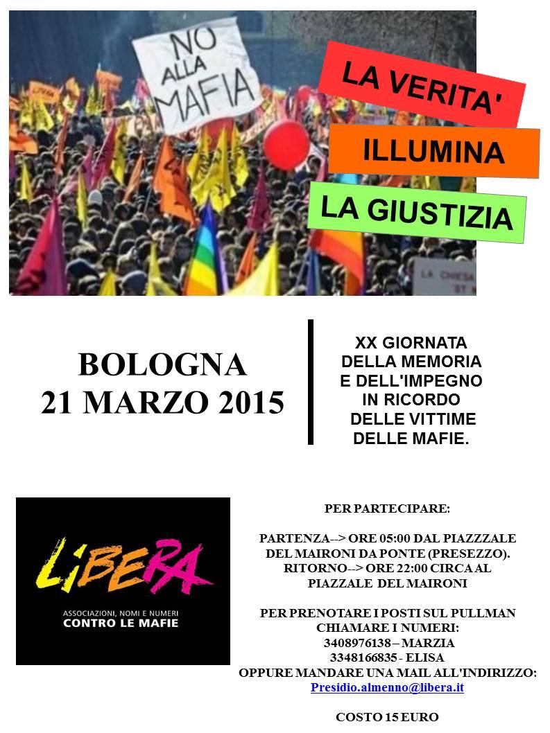 21 Marzo – Bologna – Viaggio in pullman