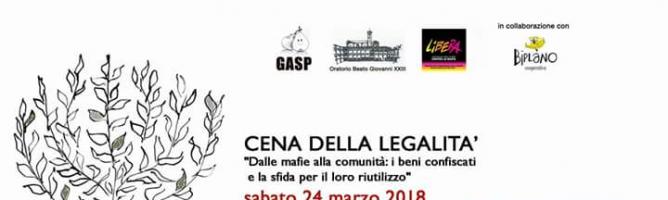 Cena della legalità – Ponte San Pietro – 24 marzo 2018