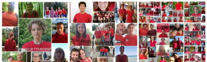 Una maglietta rossa