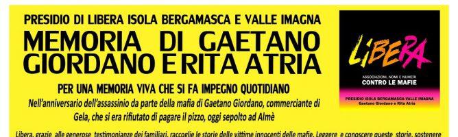 Memoria di Gaetano Giordano e Rita Atria
