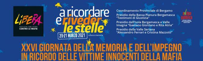 XXVI GIORNATA DELLA MEMORIA E DELL'IMPEGNO IN RICORDO DELLE VITTIME INNOCENTI DELLE MAFIE