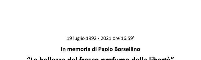 In memoria di Paolo Borsellino